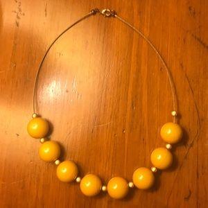 Jewelry - Mustard yellow beaded necklace